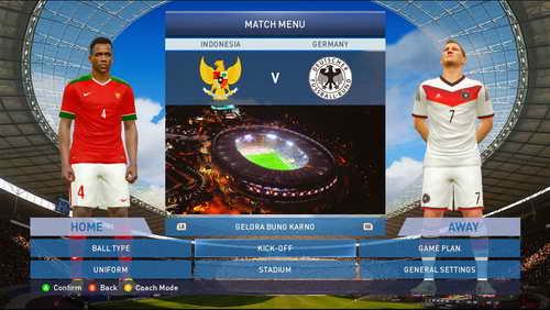PES 2015 SunEvo Patch 1.0+Indonesia Super League ISL Ketuban Jiwa SS1
