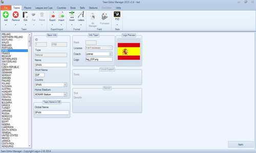 PES 2015 Team Editor Manager Tools Beta 1.6 by Lagun-2 Ketuban Jiwa