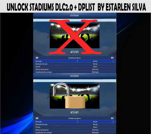 PES 2015 Unlock Stadiums DLC 2.0+Dplist by Estarlen Silva