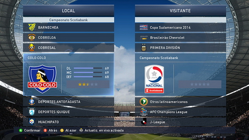 PES 2015 XBOX360 Scotiabank Liga Chilena Patch v1.0 by Theviper12 Ketuban Jiwa SS3
