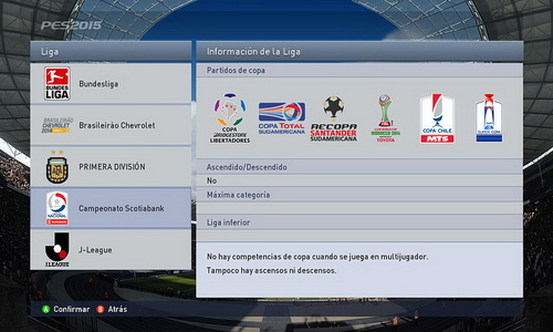 PES 2015 XBOX360 Scotiabank Liga Chilena Patch v1.0 by Theviper12