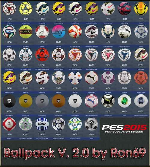 Pro Evolution Soccer PES 2015 Ballspack v1.2 by Ron69 Ketuban Jiwa