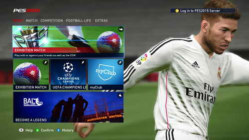 Pro Evolution Soccer PES 2015 Graphics Mod Main Menu by Fruits Ketuban Jiwa SS1