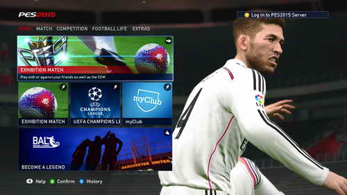 Pro Evolution Soccer PES 2015 Graphics Mod Main Menu by Fruits Ketuban Jiwa SS3