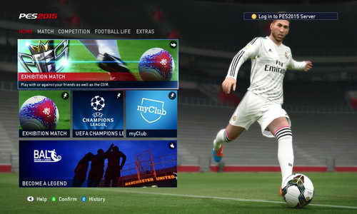 Pro Evolution Soccer PES 2015 Graphics Mod Main Menu by Fruits