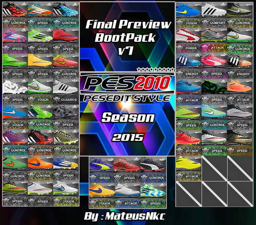 PES 2010 New Bootpack HD v7.0 Season 2015 by MateusNkc