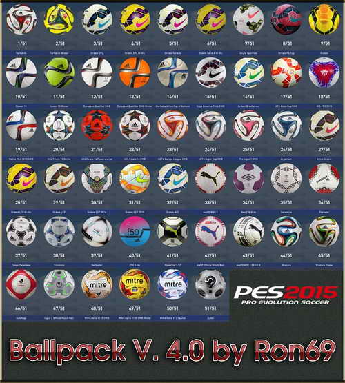 PES 2015 Ballpack HD v4.0 by Ron69 Update 01-10-2015 Ketuban Jiwa