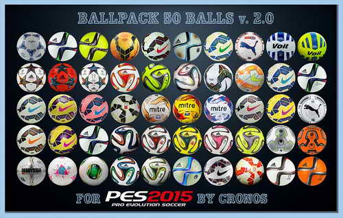 PES 2015 Ballpack Update v2.0 (50 Balls) by Cronos