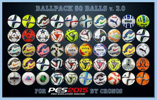 PES 2015 Ballpack Update v3.0 (50 Balls) by Cronos