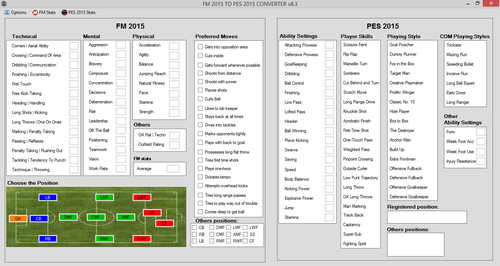 PES 2015 PC Stats Converter From FM 2015 v8.3 by Spaf94
