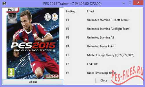 PES 2015 Trainer +7 Updated (v1.02+DLC2.00) by ALI213 Ketuban Jiwa