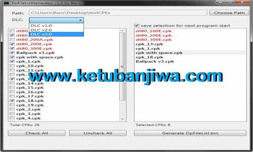 PES 2015 DpFileList Generator Tools v1.5 by Baris Ketuban Jiwa