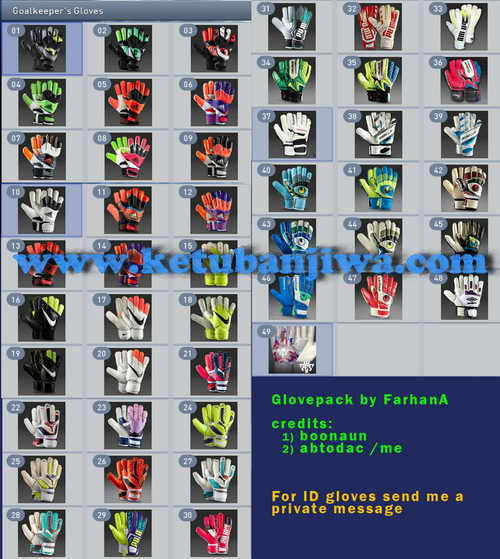 PES 2015 GK Gloves Megapack Update 11-02-15 by FarhanA Ketuban Jiwa