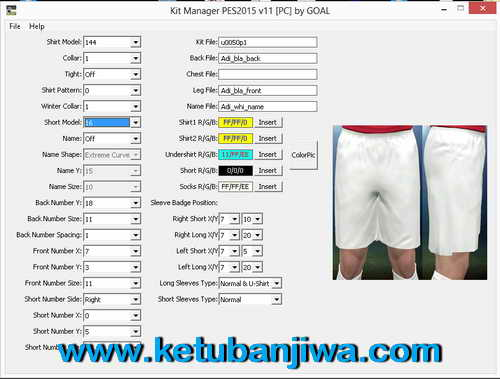 PES 2015 Kit Manager Tools v11 For PC by GOAL Ketuban Jiwa
