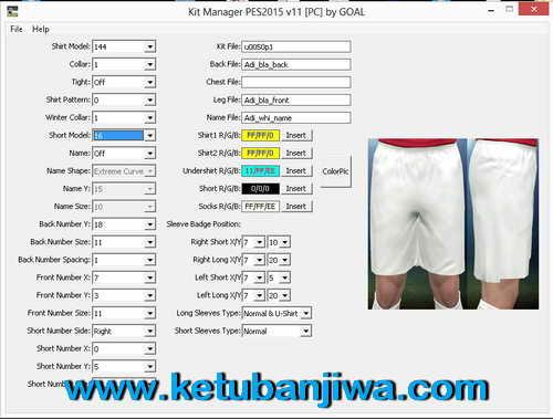 PES 2015 Kit Manager Tools v11 For PC by GOAL Ketuban Jiwa