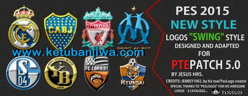 PES 2015 Swing Logos Style For PTE Patch 5.0 by JesusHrs Ketuban Jiwa