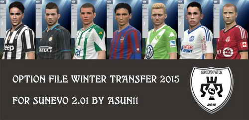 PES 2015 O.F Update Winter Transfer SunEvo by Asun11