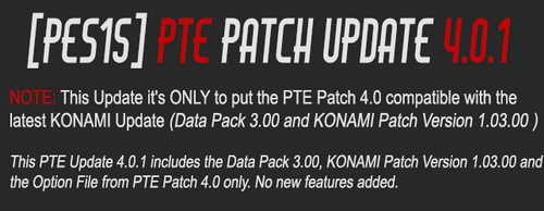 PES 2015 PTE Patch Update 4.0.1 Includes DLC 3.0+1.03 Ketuban Jiwa