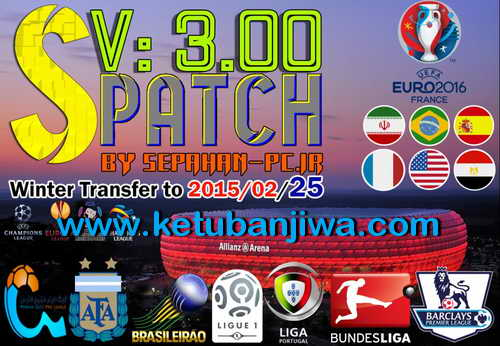 PES 2015 S-Patch v3.00 Update Winter Transfer 25/02/15