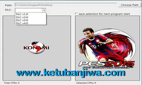PES 2015 DpFileList Generator v1.5 For DLC 4.0 by Baris Ketuban Jiwa