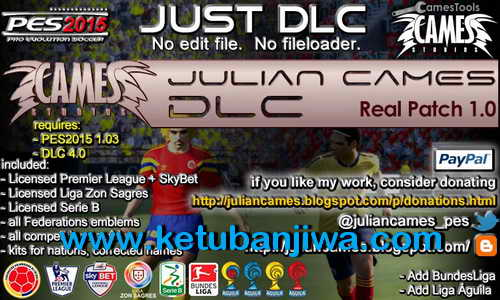 PES 2015 Real Patch 1.0 DLC 01 Mods by Julian Cames