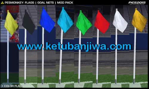 PES 2015 Flags & Goal Nets Mod Pack by PESMonkey