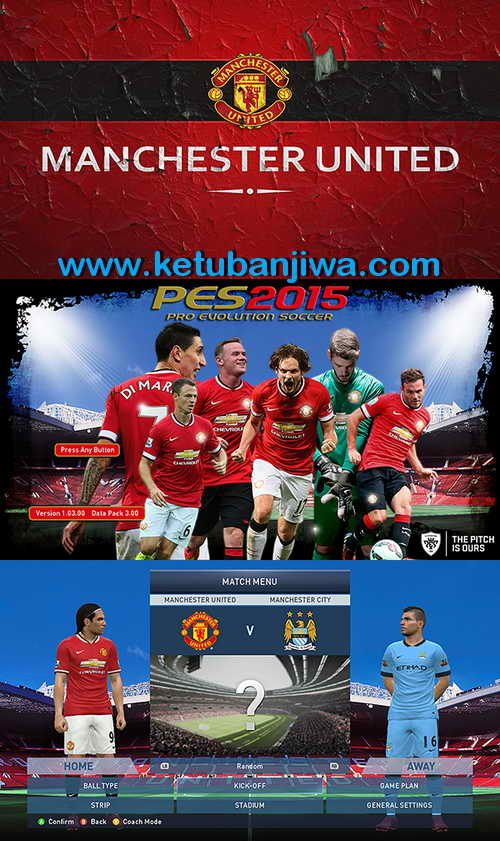 PES 2015 Manchester United Start Title Screens by Hawke Ketuban Jiwa Preview