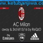 PES 2013 AC Milan Away+Third Kits 2015/2016 by ReQzO