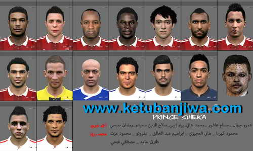 PES 2015 Egyption League Facepack Vol.1 by Prince Shieka