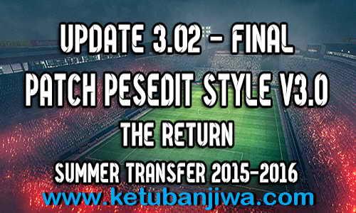 PES 2010 PESEdit Style Update v3.02 The Return 2015 Ketuban Jiwa