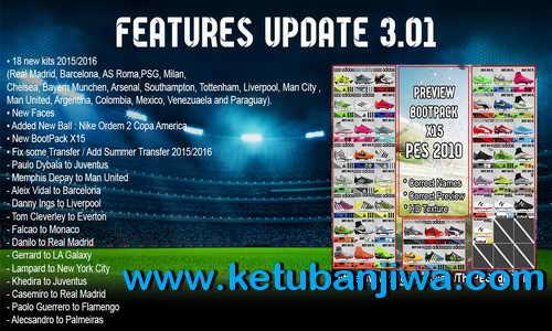 PES 2010 PESEdit Style v3.01 The Return Update 2015 Ketuban Jiwa