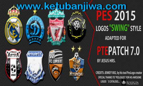 PES 2015 3D Wave Glossy Logos Pack For PTE Patch 7.0