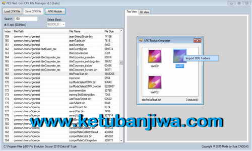PES 2015 CPK File Manager v1.7 Fix AWB Module by Sxsxsx Ketuban Jiwa