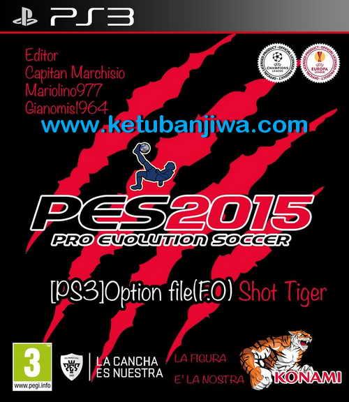 PES 2015 PS3 Option File Shot Tiger Season 15/16
