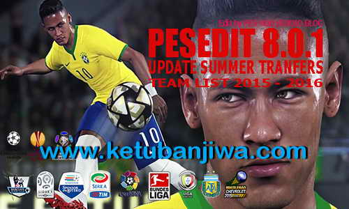 PES 2013 PESEdit 8.0.1 Season 15/16 by PESModStudio