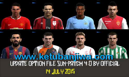 PES 2013 SunPatch 4.0 Option File Update 14 July 2015 Ketuban Jiwa