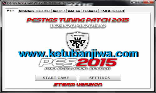 PES 2015 PESTIGS Tuning Patch Update v1.03.00.4.00.3.0 Steam Version Ketuban Jiwa