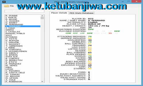 PES 2015 Stats Updater Tools Version 1.8 by Rasuna