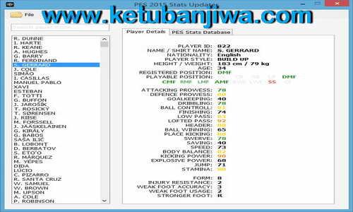 PES 2015 Stats Updater Tools Version 1.8 by Rasuna Ketuban Jiwa