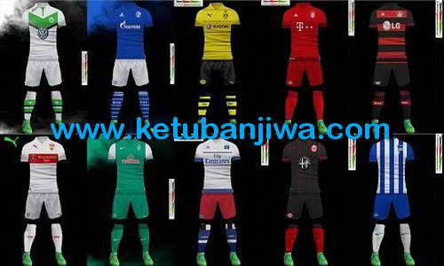 PES 2013 Bundesliga Kits Pack Season 2015-2016 by Sha Boss Ketuban Jiwa