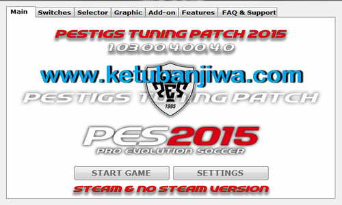 PES 2015 PESTIGS Tuning Patch v1.03.00.4.00.4.0 Ketuban Jiwa