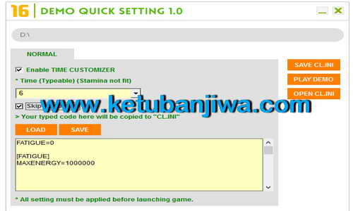 FIFA 16 Demo Quick Setting Tools by MonkeyDragon Ketuban Jiwa