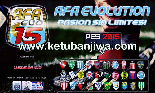 PES 2015 AFA Evo15 Patch v4 Final Version Ketuban Jiwa