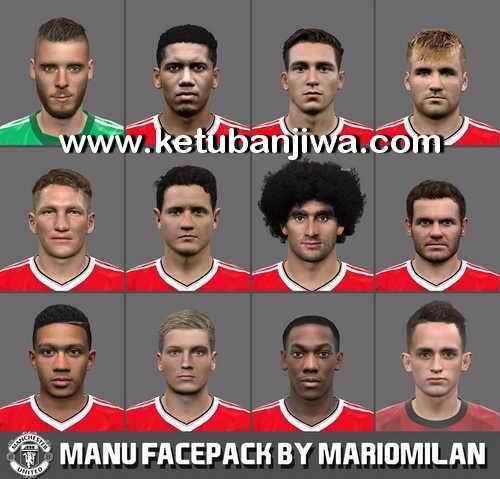 PES 2016 Manchester United Facepack by MarioMilan Ketuban Jiwa