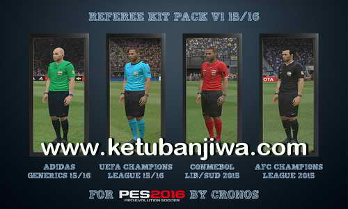 PES 2016 Referee Kitserver Pack v1 Season 15-16 by CRONOS Ketuban Jiwa