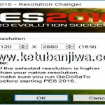 PES 2016 Resolution Changer Tool by BlackRider1993