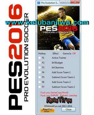 PES 2016 v1.01 Plus 4 Trainer Tool by MrAntiFun Ketuban Jiwa