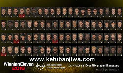 PES 2016 DLC 1.0 Faces Pack Extracted by Boris Ketuban Jiwa