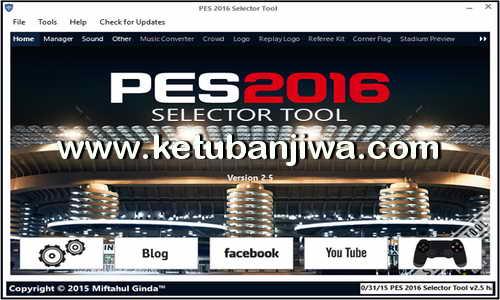 PES 2016 PC Selector Tool v2.5 by Ginda01 Ketuban Jiwa