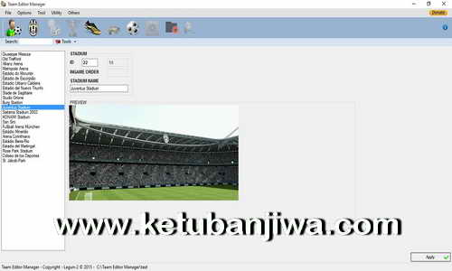 PES 2016 Team Editor Manager 1.7 BETA Tool by Lagun-2 Ketuban Jiwa